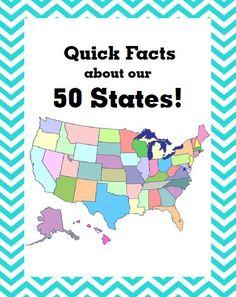 """Quick Facts about our 50 States! Find out... each state's abbreviation, flower, bird, capital, animal & date of statehood! @ http://www.christianhomeschoolhub.spruz.com/governmenthistorygeography.htm (Under """"U.S. Government/Civics and More - US States"""")"""