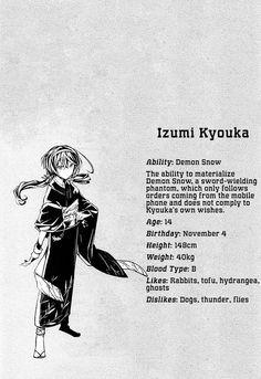 Bungou Stray Dogs 16  Izumi Kyouka character profil