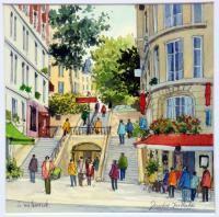 Acquisitions récentes Artistes peintres contemporains modernes gouaches aquarelles peintures huile toile galerie roussard montmartre