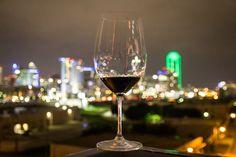 Gorgeous #Dallas Skyline as seen through a #Wine glass. Cheers Dallas!