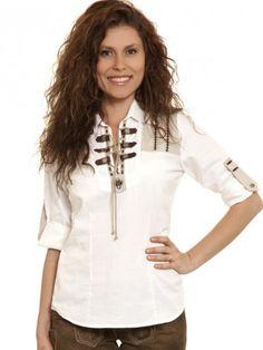 Trachtenbluse Johanna 1/1 Arm (weiß, beige) - OS Trachten German, Tunic Tops, Shirts, American, Blouse, Long Sleeve, San Diego, Sleeves, Beige