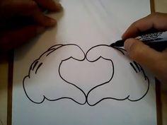 COMO DIBUJAR UN CORAZON (MICKEY MOUSE) / HOW TO DRAW A HEART (MICKEY MOUSE)