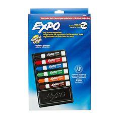 EXPO® Low Odor Dry Erase Organizer Kit, Pack Of 7