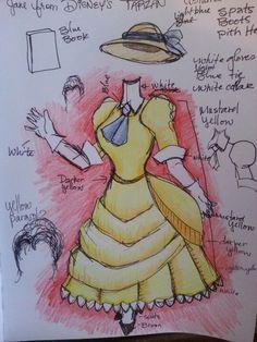 Disney Jane, Disney Magic, Disney Belle, Disney Movies, Disney Pixar, Tarzan And Jane, Sketch Painting, Cool Diy Projects, Cosplay Ideas