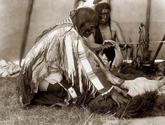 Interior of an Indian Tepee   1907 by Edward S. Curtis.