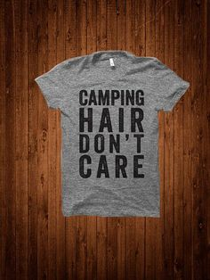 Camping Hair Don't Care Women's Fitted Tee by StateLineGraphics - Size M
