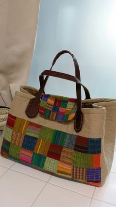Tutorial: Patchwork Shopping Bag. Bag patchwork, sewing instructions