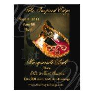Shop Elegant Red Masquerade Ball Party Event Flyer created by TheInspiredEdge. Personalize it with photos & text or purchase as is! Masquerade Party Invitations, Masquerade Ball Party, Masquerade Costumes, Custom Flyers, Fine Paper, Charity Event, Fundraising Events, Party Flyer, Elegant