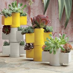 stackable totem planters #homes #plants