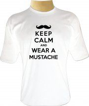 Camiseta Keep Calm and Wear a Mustache