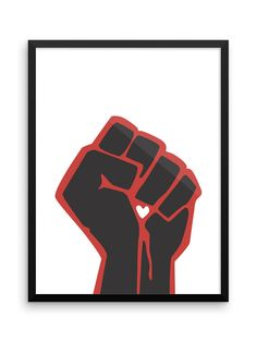 A raised fist representing solidarity, support and resistance. Each print is offered in a variety of sizes! Political Tattoo, Political Art, Protest Posters, Protest Art, Contexto Social, Sketch Inspiration, Poster Making, Easy Paintings, Love Painting