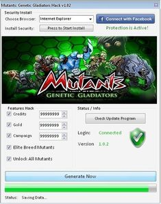 Mutants Genetic Gladiators Hack has lots of features like Unlimited Credits, Unlimited Gold, Unlimited Campaign, Elite Breed Mutants and Unlock All Mutants. Gladiator Games, Pool Hacks, Cheat Engine, The New Mutants, Kings Man, Android Hacks, Game App, Movies Online, Cheating