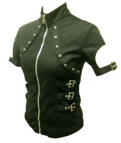 Alien Invasion Cyber Goth top #cyberpunk #industrial #goth