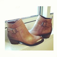 We can never get enough brown leather booties.