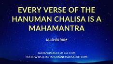 Every Verse of the HANUMAN CHALISA is a MAHAMANTRA. 🙏❤👌 JAI SHRI RAM! 🙏🙏🙏 #lordhanuman #hanuman #hanumanasana #shriram #bhagavadgita #sriram #shiva #bajrangbali #jaibajrangbali #jaishrikrishna #hanumanchalisa #hanumanjayanti #hanumanji #hanumantemple #jaihanuman #hanumantattoo #hanumangarhi #hanumanworld #hanumanfestival #hanumanmandir #siyaram #ayodhya #rama #ramayan #sankatmochan #sankatmochanmahabalihanuman #hanumandada #hanumantra #hindiquotes #hinduism Hanuman Chalisa Benefits, Bhagavad Gita, Asana, Attitude, Dj, Lord