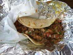 7x7 What to do in SF list. Carnitas taco dorado at La Taqueria. 2889 Mission Street, (415) 285-7117