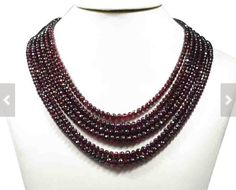 "Garnet Beads Strand, 16"" String with more than 80 AAA Quality Garnet Beads, Customize your Order"