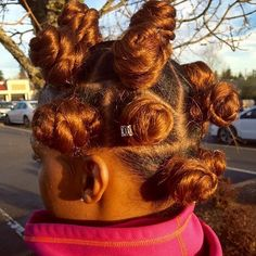 Fall Inspired ❤ Looking for some ways of how to do bantu knots hairstyles? Twist out curls on relaxed hair, inspiring styling ideas, and handy tutorial are here! Cornrows, Bantu Knot Hairstyles, Updo Hairstyle, Protective Hairstyles, Hairstyles Haircuts, Wedding Hairstyles, Chignon Simple, Oil For Curly Hair, Curly Hair Styles