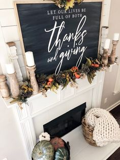 How To Decorate Your Mantel For Fall In 3 Easy Steps Plus, 30 other Stunning Fall Mantel Decor Ideas as well! I'm excited to share with you 3 easy steps on how to decorate your mantel for fall! Let's get started! Fall Fireplace Decor, Fall Mantel Decorations, Outside Fall Decorations, House Decorations, Halloween Decorations, Christmas Decorations, Fall Home Decor, Autumn Home, Fal Decor