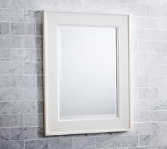 Classic Mirror #potterybarn  perfect size 22.5 x 35.5 and 1 inch deep….too bad not available until mid September.