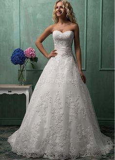 Robe de mariée sans manches a-ligne de luxe longueur ras du sol - photo 1