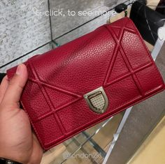 WOC Diorama in Red RM5,775 Cute Bags, Luxury Fashion, Gucci, Chanel, Shoulder Bag, Wallet, Diorama, Red, Dioramas