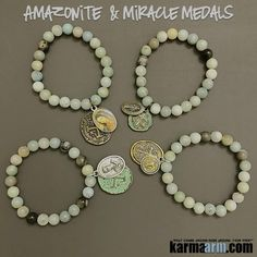 The wearing of a religious medal is a good, pious practice which keeps us mindful of the protection and love of the image it bears. Moreover, the consciousness of that image should motivate us to put our faith into action.......Beaded Bracelets. Yoga Chakra Mala Jewelry. Energy Healing Crystals Stacks. Miracle Medals.