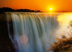 "One of the grandest vistas on earth; at least the part of the earth I have visited. My good friend Ron Bernier is in Zimbabwe this month. I hope he got to visit this place. This is ""Vic"" Falls from the Zimbabwe side."