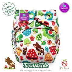 milovia cloth diapers toadstools 12