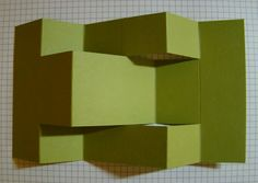 Tri Fold Shutter Card Tutorial it gives you measurements on the pieces that go on the tri fold card. I like that