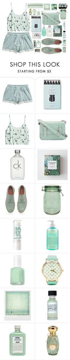 """""""Why Wither When You Are Perfectly Capable of Blossoming?"""" by sverdesca ❤ liked on Polyvore featuring H&M, Kelly Wearstler, Calvin Klein, Grenson, Kilner, philosophy, Essie, 2b bebe, Polaroid and John Allan's"""