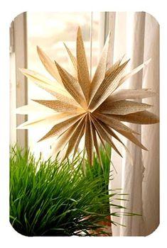 #decoración #reciclaje Haz una estrella con hojas recicladas