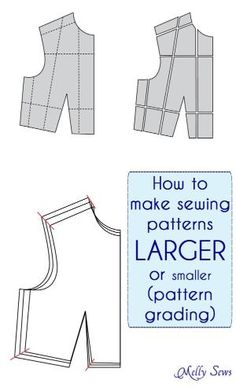 How to make Sewing Patterns Bigger (or smaller) - Melly Sews by Dianerose01