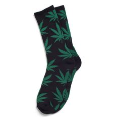 HUF PLANTLIFE SOCK HO12 // BLACK / GREEN