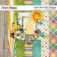 Digital Freebie used in my CCG232 Layout: Meghan Mullens - You Are My Happy (available until Feb 28)