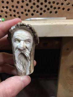 Keychain Ornament Bone Head Bone Carving Antler by JoshCarteArt