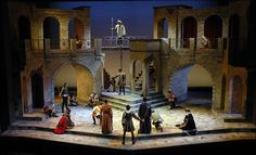 """Romeo & Juliet"" at Rutgers University's Mason Gross School of the Arts  (set designed by Jonathan Wentz)"