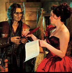 First Look at Rose McGowan as young Cora with Rumple in Episode 2x16 - The Miller's Daughter.