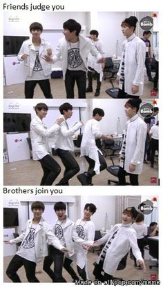 Remember when we thought suga was the normal mature member that judged his dongsengs