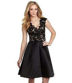 JS Collections Floral Lace & Satin Dress | Dillard's Mobile