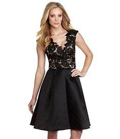 JS Collections Floral Lace & Satin Dress | Dillard's Mobile