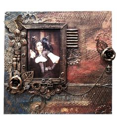 Steampunk photo frame Industrial picture frame Photography Frame Photo Holder Steampunk Art Gears & Gadgets Wall Hanging Decor mechanical