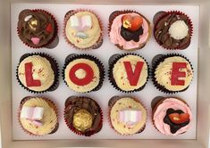 "Luxury ""Love & XOXO"" Cupcakes - Minimum order 24 Cupcakes Dublin, Ireland, Bakery, Cupcakes, Luxury, Desserts, Party Cakes, Tailgate Desserts, Cupcake"
