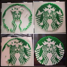 Starbucks logo hama mini beads by alexsanchez026