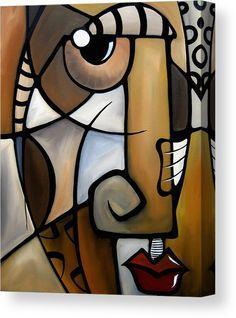 Stylized - Original Abstract painting Modern pop Art Contemporary Cubist Face by Fidostudio - Tom Fedro Abstract Face Art, Abstract Portrait, Pop Art Collage, Tableau Pop Art, Cubist Art, Picasso Paintings, Arte Pop, African Art, Fine Art America