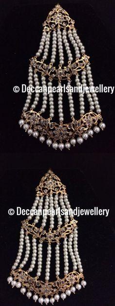 Hair and Head Jewelry 110620: Hyderabadi Jadau Jhoomar /Jhumar / Passa Indian Pakistani Jewellery -> BUY IT NOW ONLY: $45 on eBay!