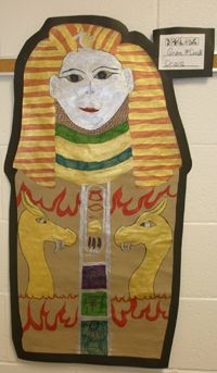 7th Grade artwork, hopi baskets, canopic jars, paintings,middle school egyptian art, middle school art lessons, 6th grade art, pyramids, art lessons, egyptian projects