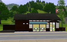 """Mod The Sims - Japanese style store """"Laundromat"""""""