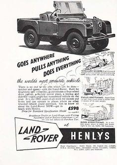 52 Land Rover Vintage ad - unframed