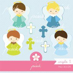 Angel Clipart Sweet Cross Digital Clip Art por PinkSD en Etsy, $5.00